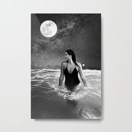 Follow Me to the Sea Metal Print