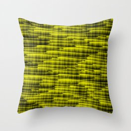 Square cross yellow lines on a dark tree. Throw Pillow
