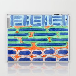 Blue Shapes Pattern Laptop & iPad Skin
