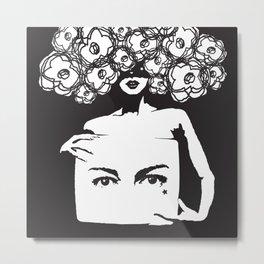 Flowerhead Metal Print