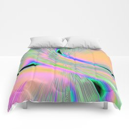 Re-Created  Aurora XI by Robert S. Lee Comforters