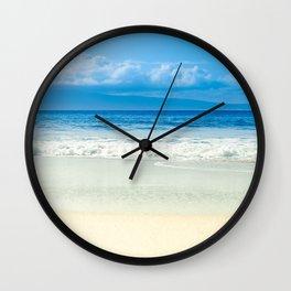 Beach Blue Kapalua Golden Sand Maui Hawaii Wall Clock