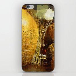 Golden Large Fountain Urns iPhone Skin