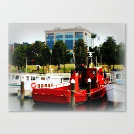 Little red tug Boat Canvas Print