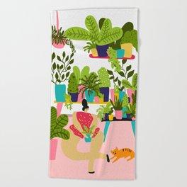Love Plants Beach Towel