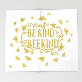 Be Kind to Beekind - Save the Bees Throw Blanket