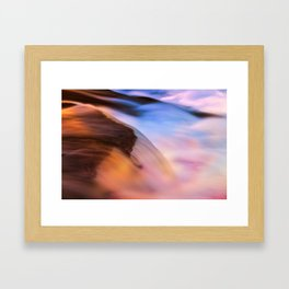 Stream of Swallowed Colors Framed Art Print