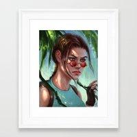 megan lara Framed Art Prints featuring Lara by LaraRobsGraves