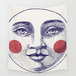 Moon Face Wall Tapestry