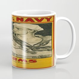 Vintage poster - Enlist in the Navy Coffee Mug