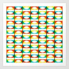 Geometric Pattern #171 (colorful circle squares) Art Print