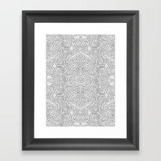Frost & Ash - an Art Nouveau Inspired Pattern Framed Art Print