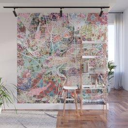 columbus map flowers Wall Mural
