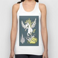 backpack Tank Tops featuring Magical Mystery Backpack by Amy Gale
