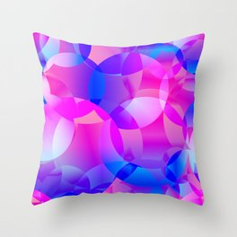 Violet and blue soap bubbles. Throw Pillow