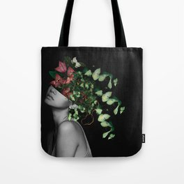 Lady Flowers X Tote Bag
