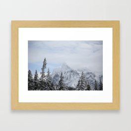 Man and Mountains Framed Art Print