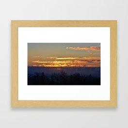 Sunrise over Lake Huron Framed Art Print