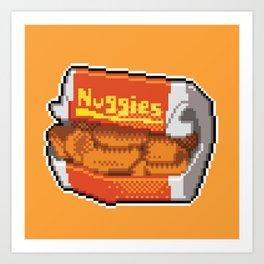 Pixel Chicken Nuggets Art Print