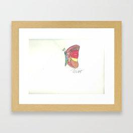 Mosaic Butterfly Framed Art Print