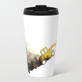 yellow grab crane crawls out Travel Mug
