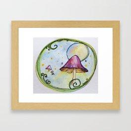 Magical Mushrooms Framed Art Print