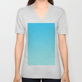 Simply sea blue teal color gradient - Mix and Match with Simplicity of Life Unisex V-Neck