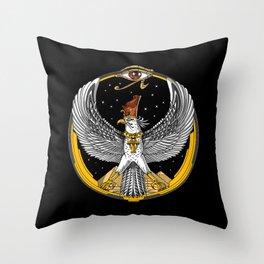 Egyptian Falcon God Horus Throw Pillow