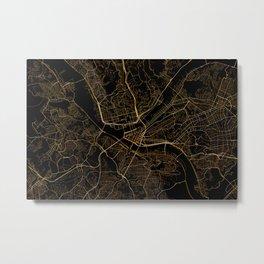 Pittsburgh map, Pennsylvania Metal Print