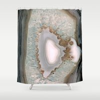 agate Shower Curtains featuring Agate  by Katie A.M.