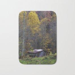 Old Mountain Barn in Autumn Bath Mat