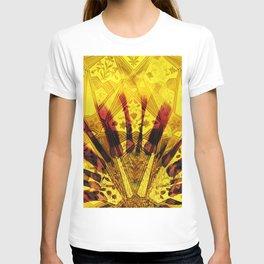 indian Sun Flower pattern Collage digital ART T-shirt