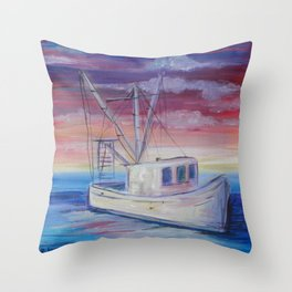 Shrimp on the Water Throw Pillow