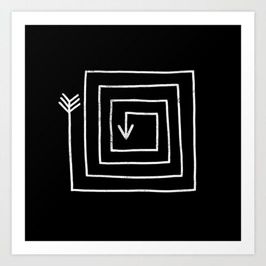 Square Arrow Art Print