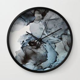 Smoke Show - Alcohol Ink Painting Wall Clock