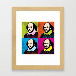 WILLIAM SHAKESPEARE (4-UP POP ART COLLAGE) Framed Art Print