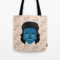 seinfeld Tote Bags featuring Elaine Benes - Seinfeld by Kuki