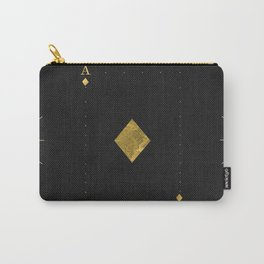 Ace of Diamonds - Golden cards Carry-All Pouch