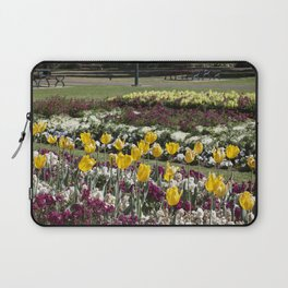 Tulips in the park Laptop Sleeve