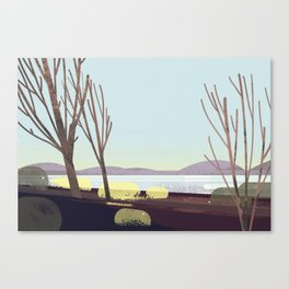 oregon in winter Canvas Print