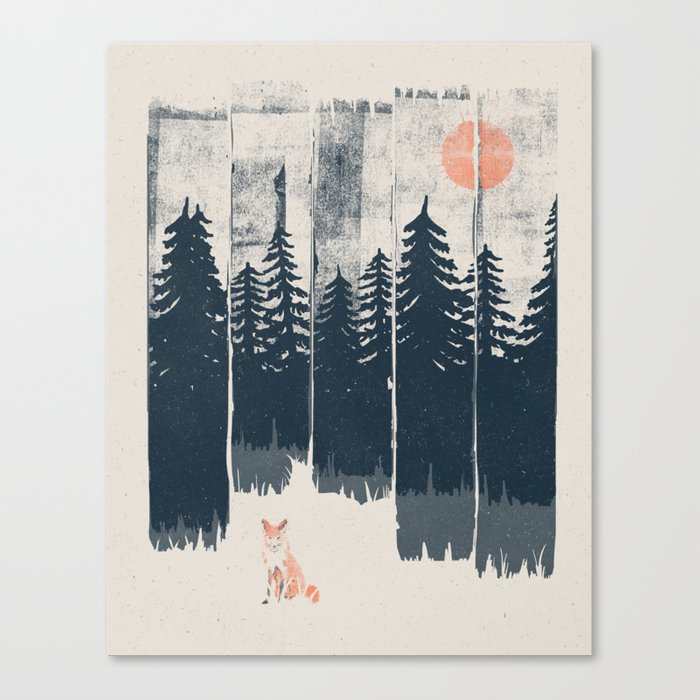 A Fox in the Wild... Leinwanddruck