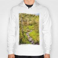 river Hoodies featuring River by Julie Luke