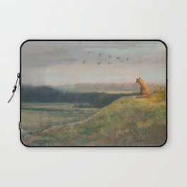 Red Fox Looks Out Over the Valley Laptop Sleeve