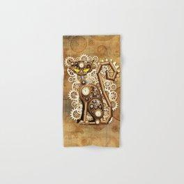 Steampunk Cat Vintage Style Hand & Bath Towel