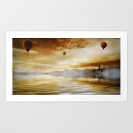 Hot Air Balloon Escape Art Print
