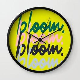 bloom. bloom. bloom. bloom. Wall Clock