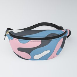 Pink, Blue, Navy Cameo Fanny Pack