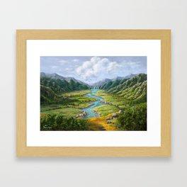 Hidden River Framed Art Print