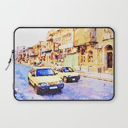 Aleppo: Taxi through the streets of Aleppo Laptop Sleeve