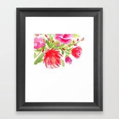 Watercolor Florals Framed Art Print
